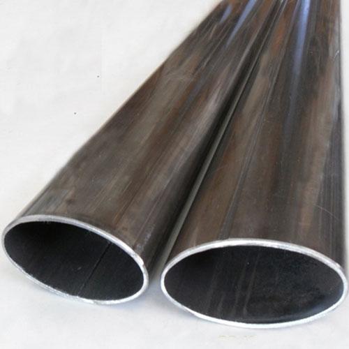 Tubo estructural ovalado negro for Tubos de hierro rectangulares