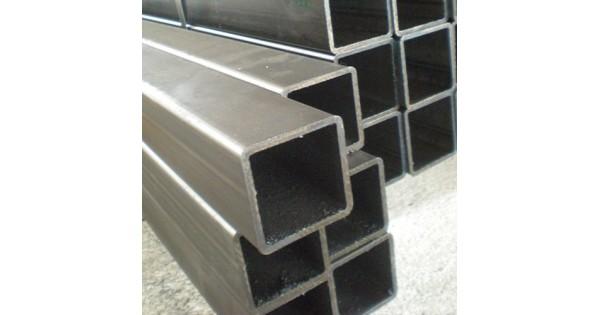 Tubo estructural cuadrado negro for Perfiles de hierro galvanizado precio